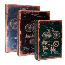 Conjunto Caixa Livro Bike  - 3 pçs - Mart