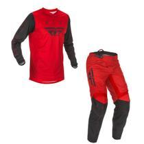 Conjunto Calça + Camisa Fly F16 2021 Vermelho/Preto -