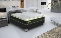 Conjunto cama box Active Pró Queen 158cm com base 618 Gazin - Gazin Colchões