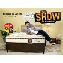 Conjunto Cama Box (Colchão + Box) Gazin Mola Daniel (Molas Ensacada) Bege e Marrom 138x188x69 -