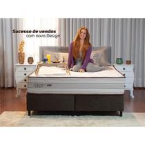 Conjunto Cama Box (Colchão + Box) Gazin Mola Duetto (Molas Ensacada) Bege 158x198x69 -