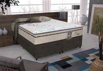 Conjunto cama box Daniel King 193cm com base 604 Gazin - Gazin Colchões