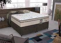 Conjunto cama box Daniel Queen 158cm com base 603 Gazin - Gazin Colchões