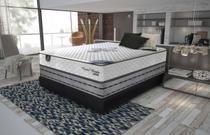 Conjunto cama box Grand Reale King 193cm com base 602 Gazin - Gazin Colchões