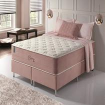 Conjunto Cama Box King Size Anjos Richesse 193x203cm Molas Ensacadas -
