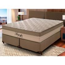 Conjunto Cama Box Magnyfic + Colchão King Size Molas Ensacadas 193x203x75cm - Umaflex -