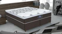 Conjunto cama box New York Queen 158cm com base 615 Gazin - Gazin Colchões