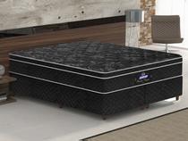 Conjunto cama box Pérola Negra Queen 158cm com base 631 Gazin - Gazin Colchões