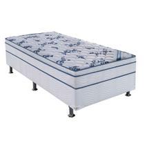 Conjunto Cama Box Physical com Colchão Solteiro Molas Nanolastic Confort (20x88x188) Branco - Ortobom
