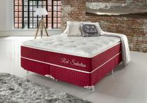 Conjunto Cama Box Queen Red Seduction Molas Ensacadas 158x198x74 Colchão + Cama Box - Hellen colchões e estofados