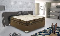 Conjunto cama box Resistence Firme Queen 158cm com base 621 Gazin - Gazin Colchões