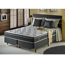Conjunto Cama Queen Soft Ecoflex Molas Bonnel com Pillow Top 1,58 x 1,98 x 60 -