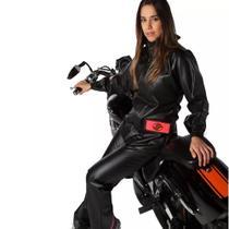 Conjunto Capa Chuva Alba Europa Feminino Cor Preto Tam - Alba Moto