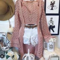 Conjunto cardigan e croped flair rose - Sarah Malhas