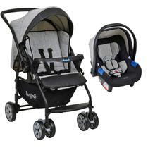 Conjunto Carrinho de Bebê Travel System Reclinável Reversível Rio K De 0 a 15kg com Bebê Conforto Touring X De 0 a 13kg Burigotto -