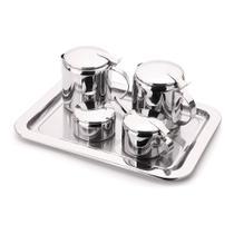 Conjunto Chá e Café Tavola Inox 6 peças Forma -