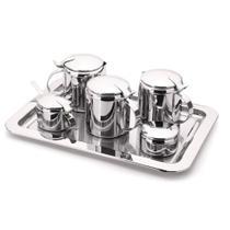 Conjunto Chá e Café Tavola Inox 7 peças Forma -