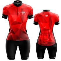 Conjunto Ciclismo Feminino Bermuda e Camisa Batimentos dry Fit Proteção UV - Pro Tour