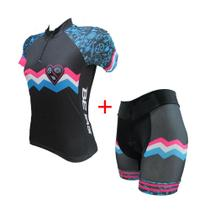 Conjunto ciclismo feminino fit acessórios - Ativofast