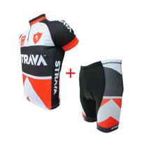 Conjunto ciclismo masculino fit strava - Ativofast