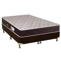 Conjunto Colchão Castor D45 Sleep Max+Cama Café Queen 158 -