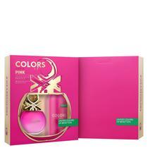 Conjunto Colors Pink Deo Benetton Feminino - Eau de Toilette 80ml + Desodorante 150ml -