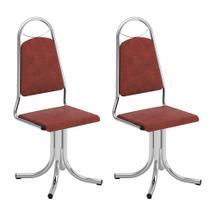 Conjunto com 2 Cadeiras Giratórias Sasha Vinil Búfalo Tabaco - Brigatto