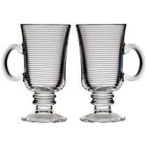 Conjunto Com 2 Canecas Fred de Vidro Para Café e Capuccino 240ml - Crisal -