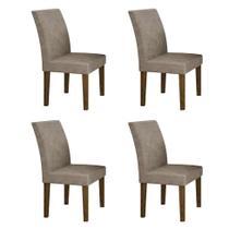 Conjunto com 4 Cadeiras Olímpia Ipê e Cinza - Leifer