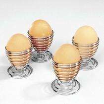 Conjunto Com 4 Porta Ovos Quentes em Aço Inox - Precinho Justo Hu