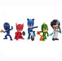 Conjunto com 5 bonecos PJ Masks colecionável - Multikids -