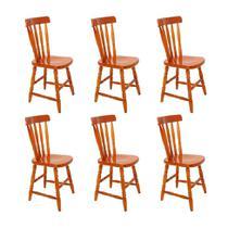 Conjunto com 6 Cadeiras Campestre Mel - Mobly