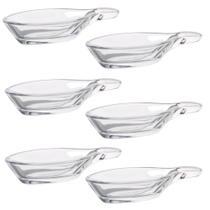 Conjunto Com 6 Colheres Vidro Pasabahçe Porção Individual 12 x 6cm Gastroboutique -