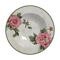 Conjunto com 6 pratos fundo peonia plus - Alleanza Cerâmica