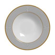 Conjunto com 6 pratos fundo ritz preto plus - Alleanza Cerâmica