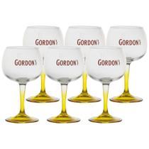Conjunto Com 6 Taças de Gin Gordon's Oficial Feita em Vidro 600ml - Diageo - Globimport
