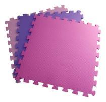 Conjunto com 6 Tatames Tapetes EVA Infantil para Meninas 50x50cm com 2cm de Espessura -