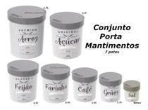 Conjunto Com 7 Potes Porta Mantimentos - Plasútil