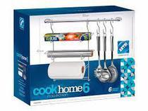 Conjunto Cook Home 6 Pçs Cromado - Arthi -