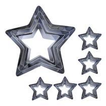 Conjunto Cortador Bolo Aço Inox Estrela 24 peças - Ana Cortadores