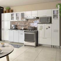 Conjunto Cozinha Completa com Paneleiro, Armário Triplo, Armário de Geladeira e Balcão Multipla Bertolini -