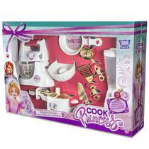 Conjunto Cozinha Cook Princess BRANCO/DOURADO Zuca TOYS 7865 -