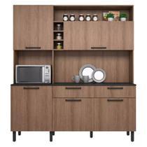 Conjunto Cozinha Itatiaia 5 Portas 2 Gavetas com Nicho para Forno Dara -