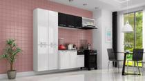 Conjunto Cozinha Itatiaia Amanda 4 Peças Branco com Preto -
