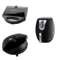 Conjunto Crepeira, Máquina de Cupcake e Fritadeira 220V Britânia Preto -