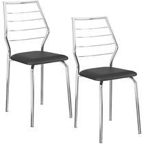 Conjunto de 2 Cadeiras 1716 Cromado  Carraro -