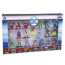 Conjunto De 20 Bonecos Liga Da Justiça Dc Comics Metal Nano Dtc -