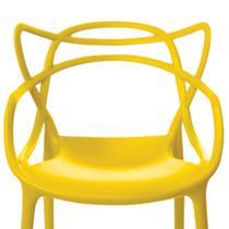 Conjunto de 4 Cadeiras Allegra Amarela - Rivatti