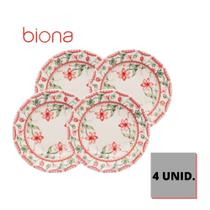 Conjunto de 4 pratos fundos 22cm donna vera - a pronta entrega - Biona Donna