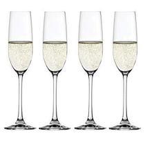 Conjunto de 4 Taças para Champagne em Vidro Cristalino Salute Spiegelau -